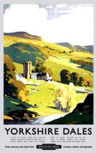 Yorkshire Dales (old rail ad.) large metal sign   (og 4030)